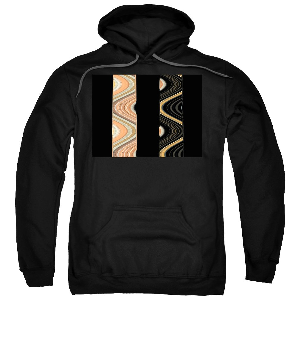 Abstract Sweatshirt featuring the digital art Side By Side by Lenore Senior