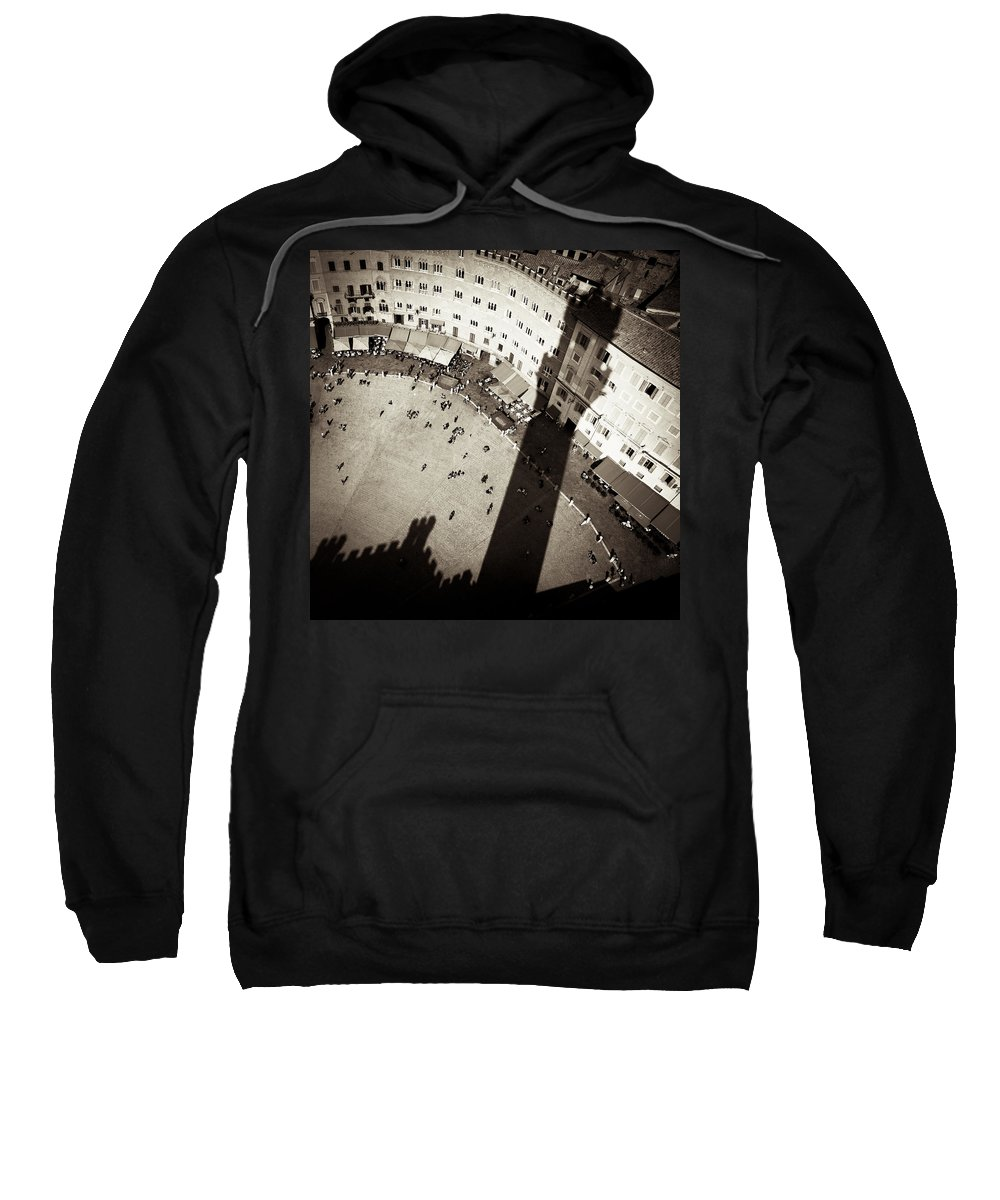 Siena Sweatshirt featuring the photograph Siena From Above by Dave Bowman