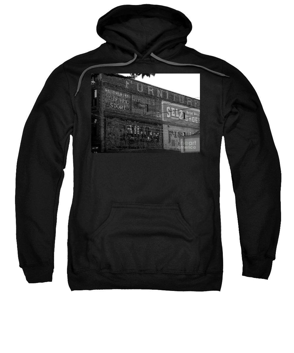 Old Sweatshirt featuring the photograph Sign Of The Times by David Lee Thompson