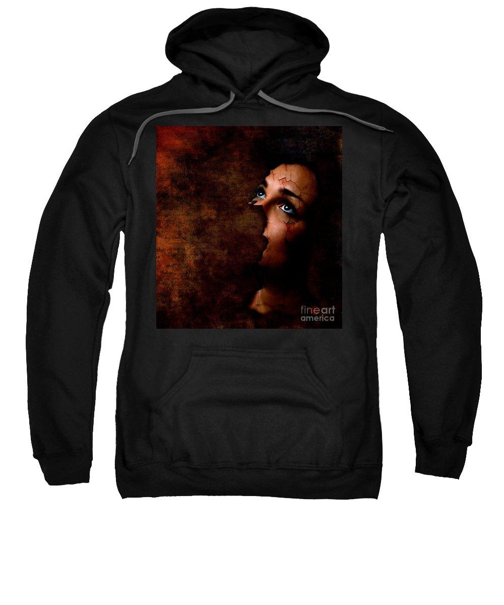 Surreal Sweatshirt featuring the digital art Silenced by Jacky Gerritsen