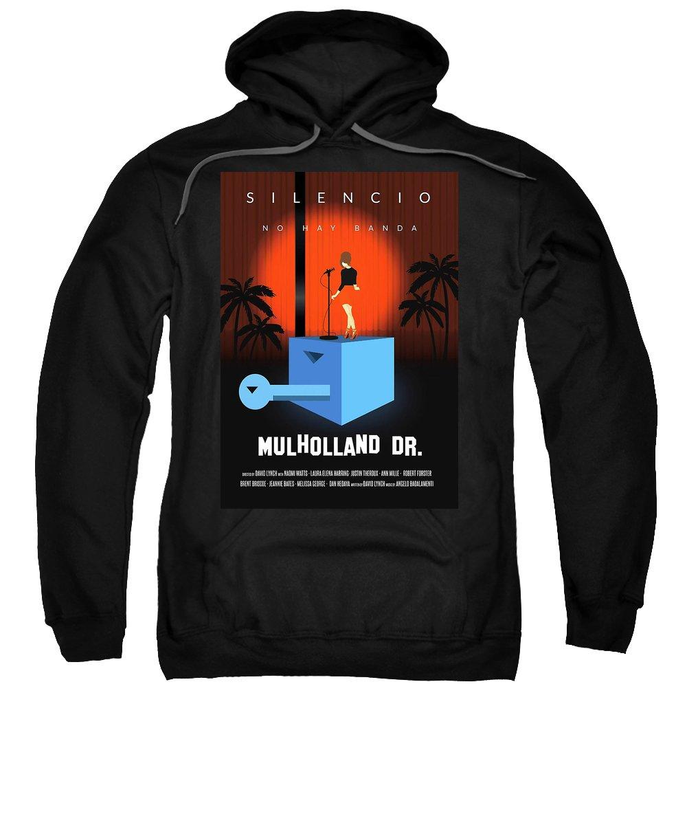 Mulholland Sweatshirt featuring the digital art Silencio by Ratu Remet