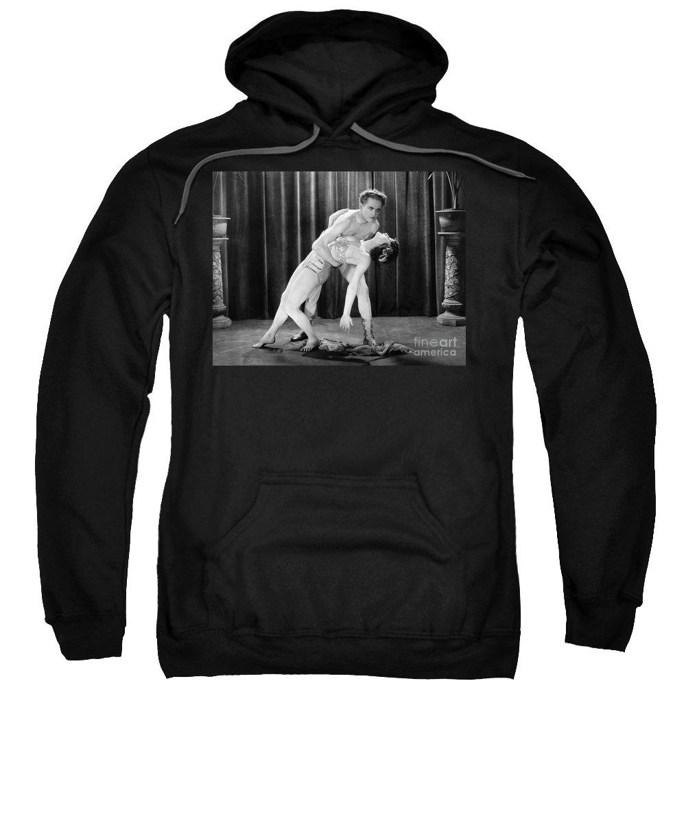 -dancing- Sweatshirt featuring the photograph Silent Film Still: Dancing by Granger