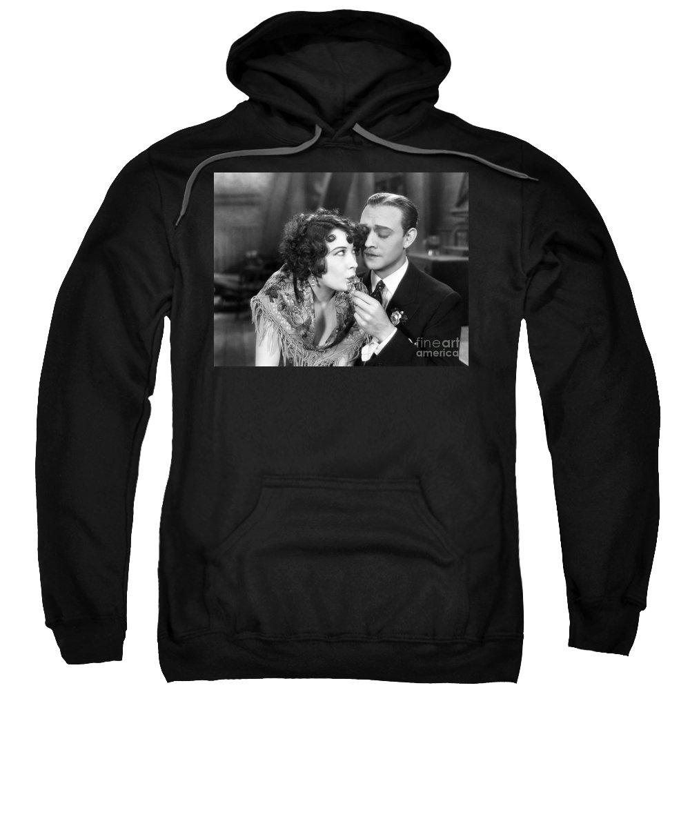 -drinking- Sweatshirt featuring the photograph Silent Film Still: Drinking by Granger