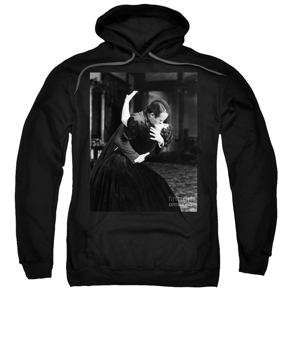 -kissing- Sweatshirt featuring the photograph Silent Film Still by Granger