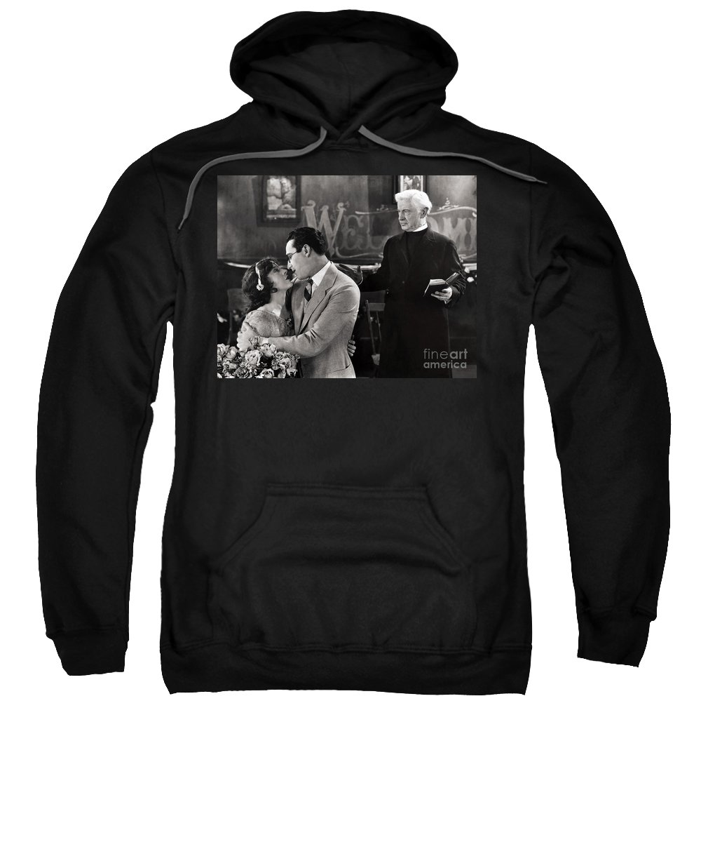 -nec09- Sweatshirt featuring the photograph Silent Film Still: Wedding by Granger