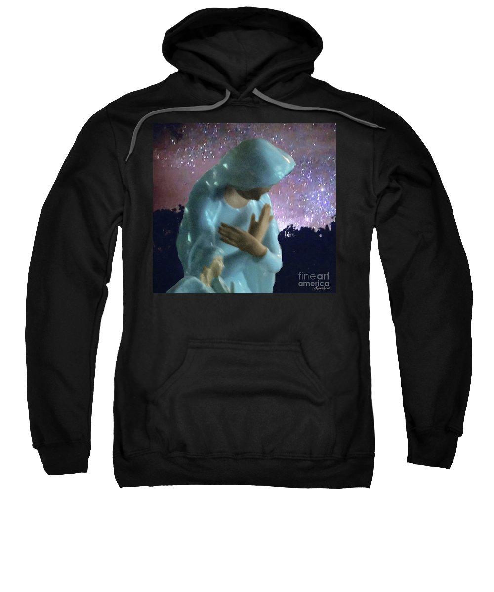 Impressionism Sweatshirt featuring the digital art Silent Prayer by Lyric Lucas