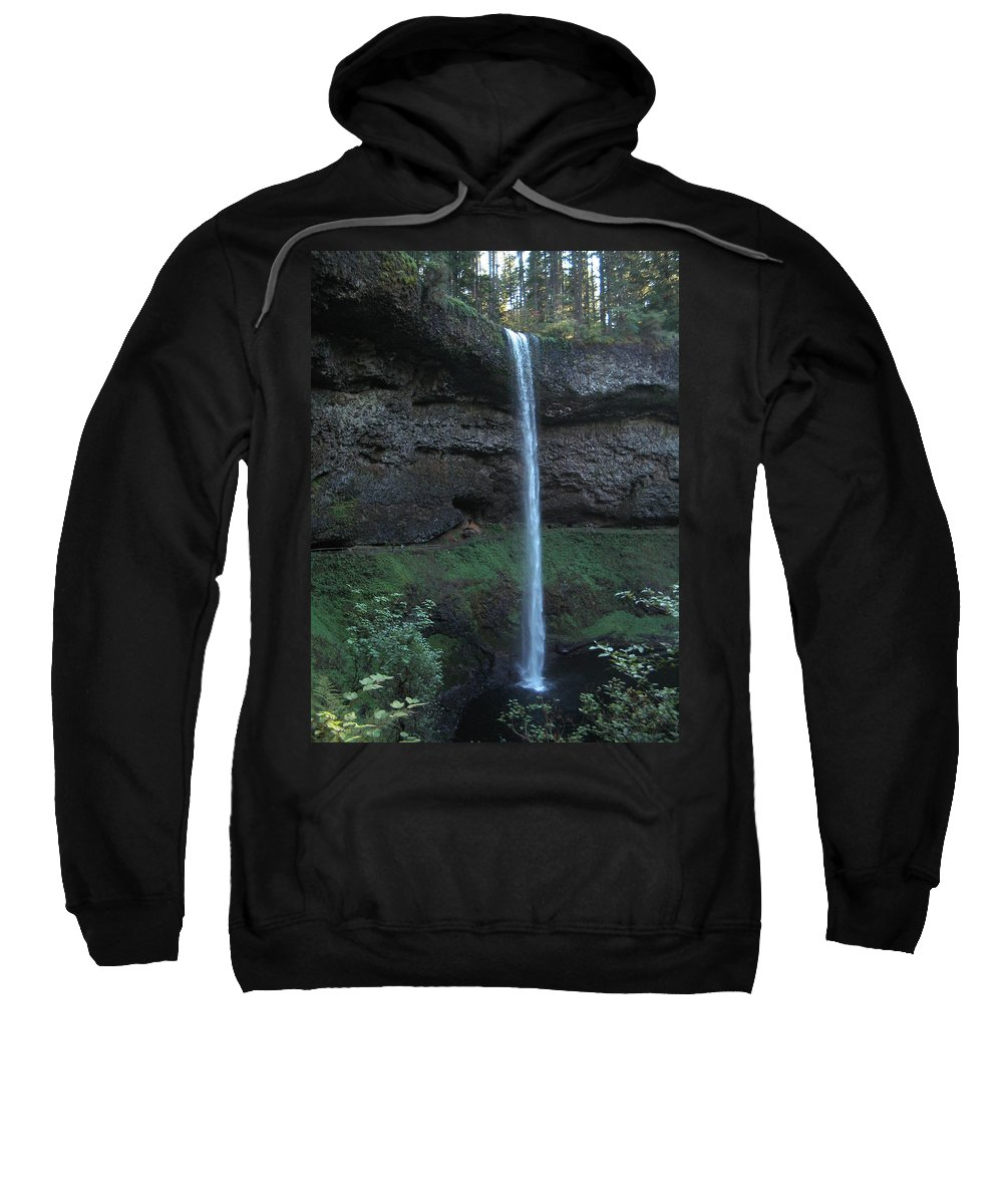 Landscape Sweatshirt featuring the photograph Silver Falls by Thomas J Herring