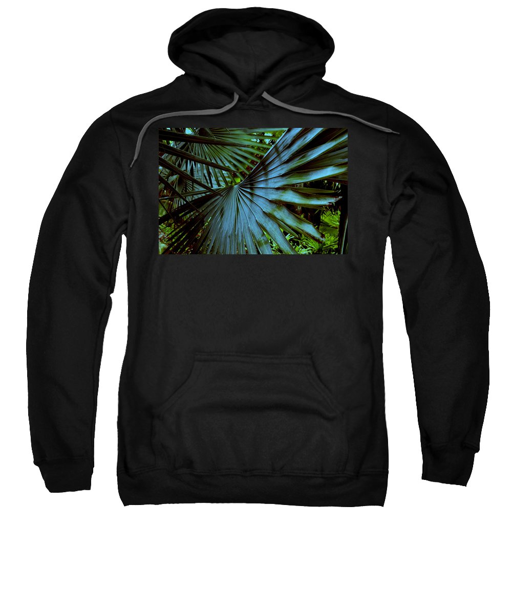 Silver Palm Leaf Sweatshirt featuring the photograph Silver Palm Leaf by Susanne Van Hulst