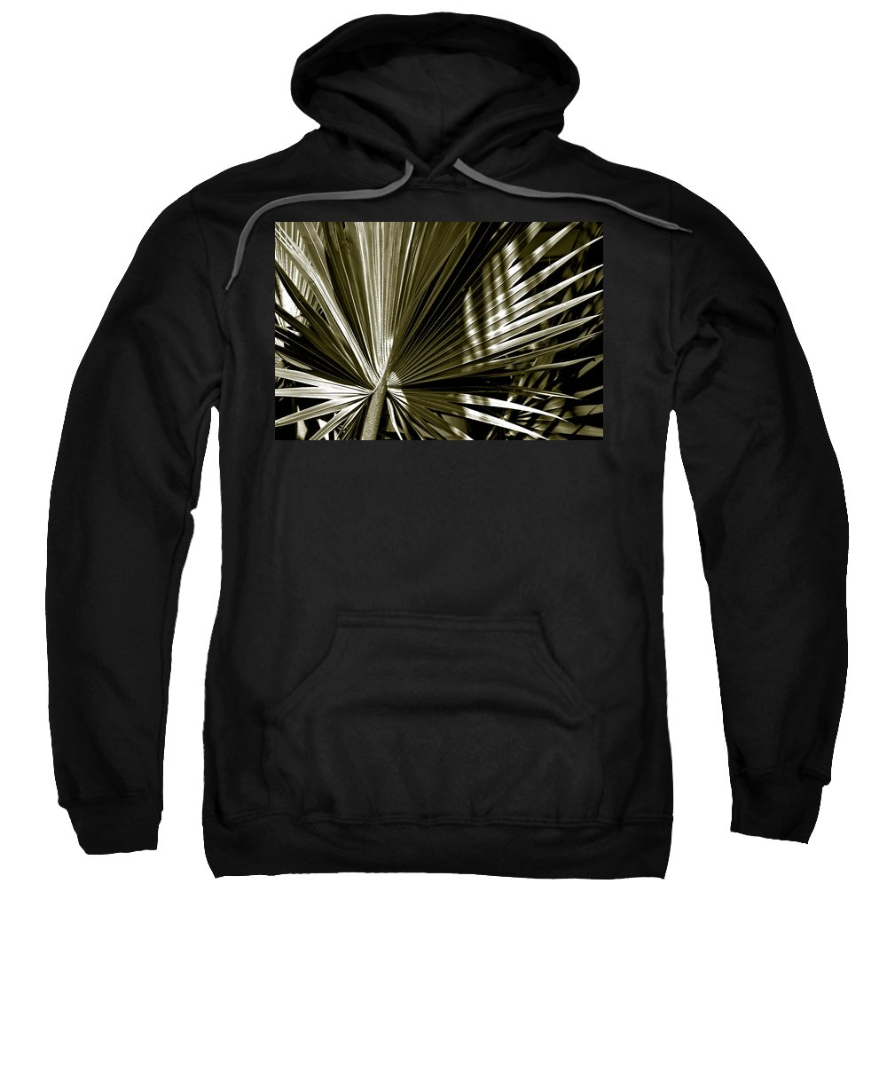 Photography Sweatshirt featuring the photograph Silver Palm by Susanne Van Hulst