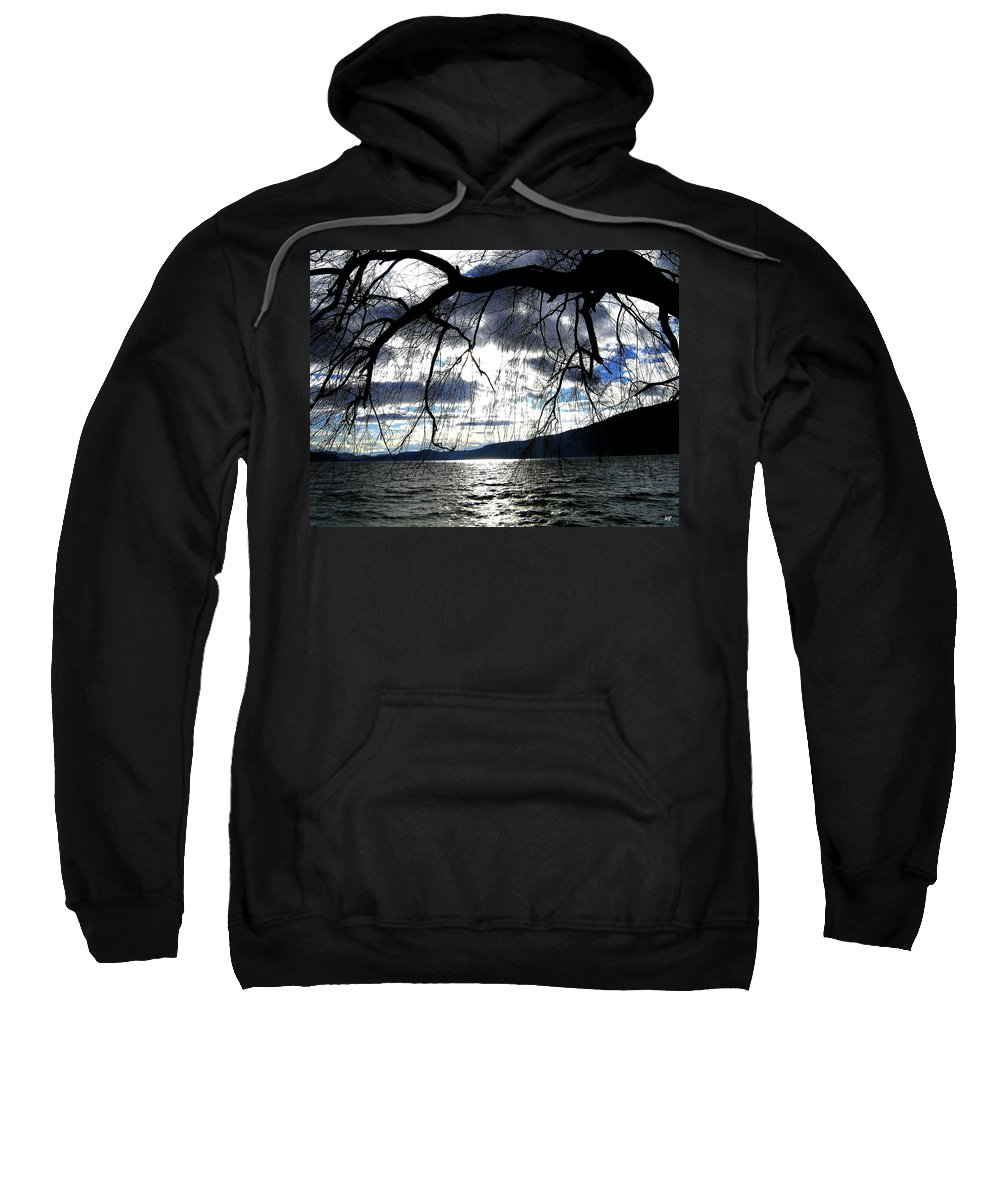 Sunset Sweatshirt featuring the photograph Silver Sunset by Will Borden