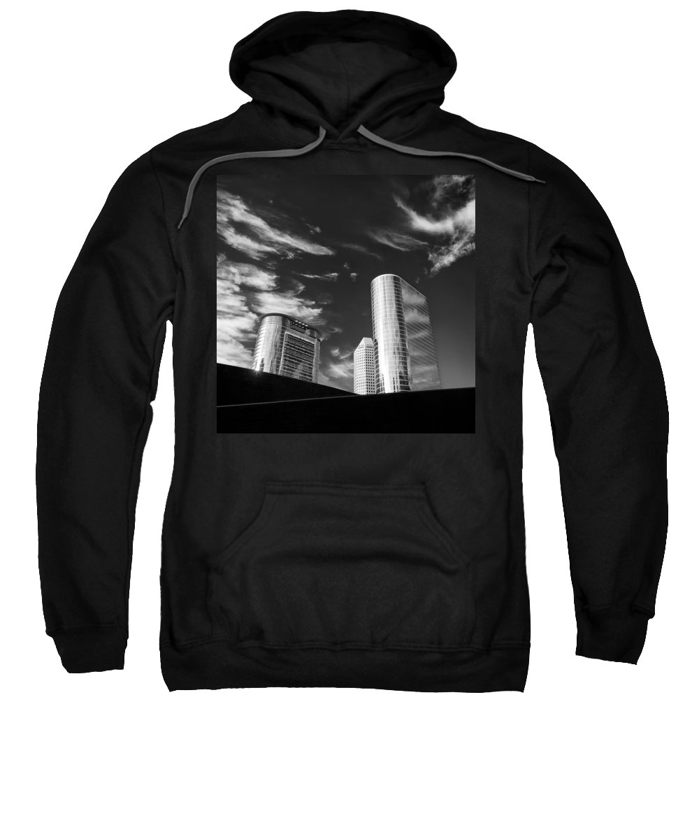 Houston Sweatshirt featuring the photograph Silver Towers by Dave Bowman