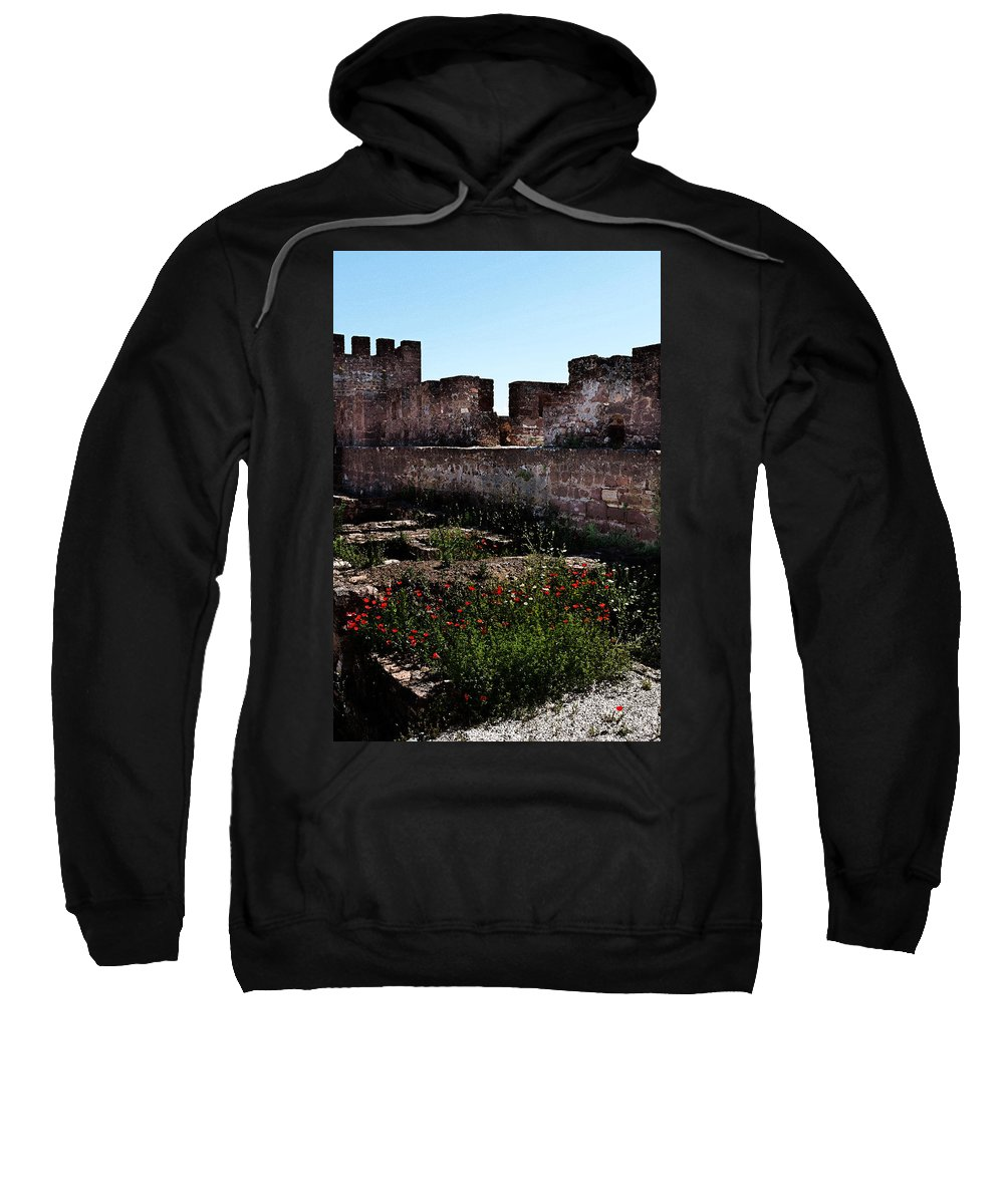 Silves Sweatshirt featuring the photograph Silves Castle by Louise Heusinkveld