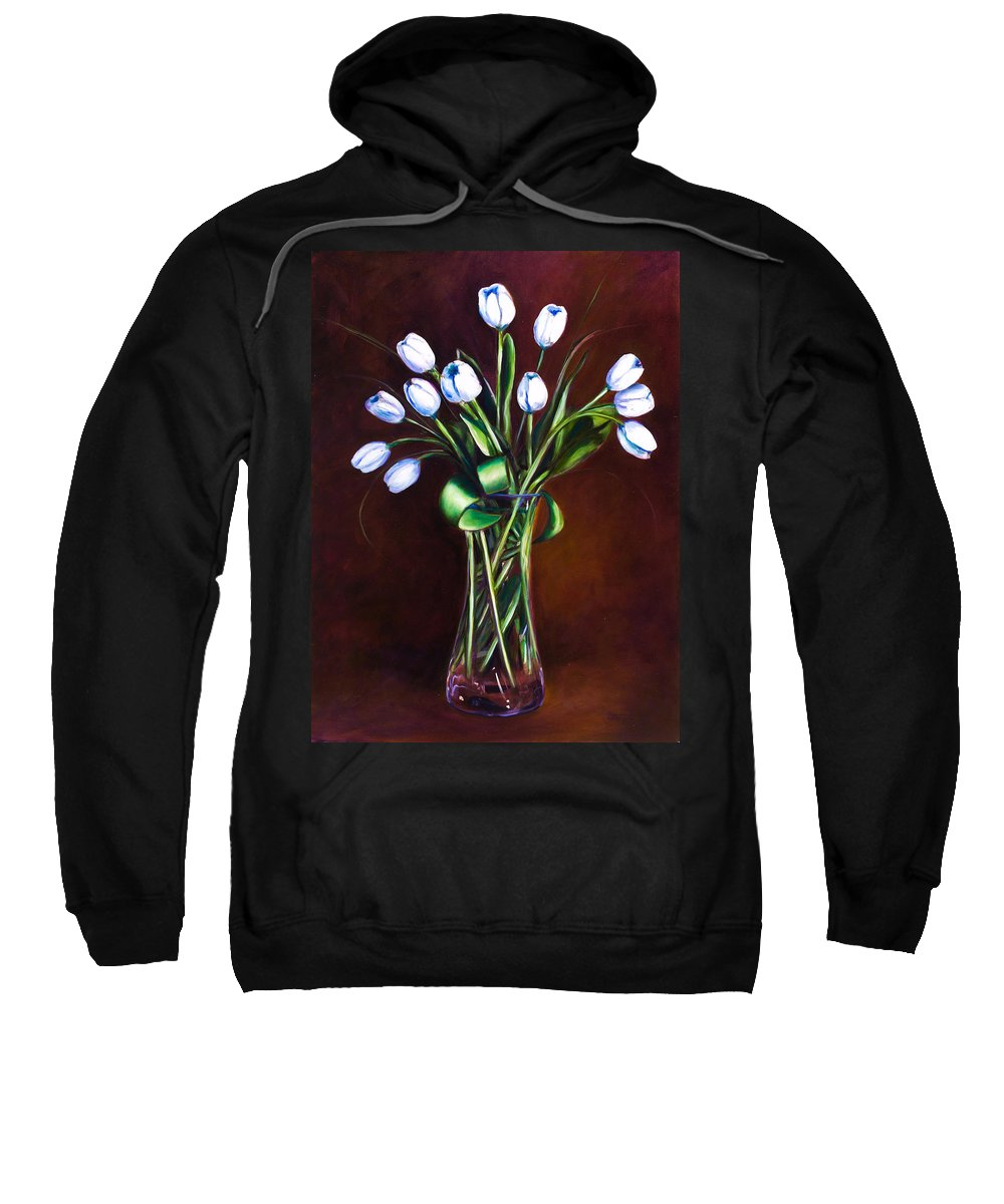 Shannon Grissom Sweatshirt featuring the painting Simply Tulips by Shannon Grissom