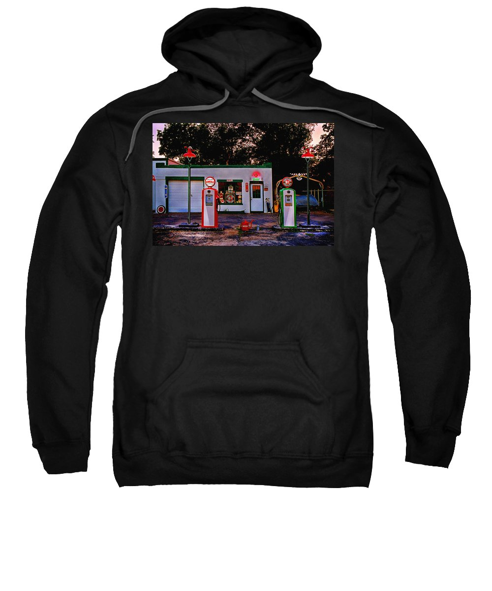 Gas Station Sweatshirt featuring the photograph Sinclair by Steve Karol