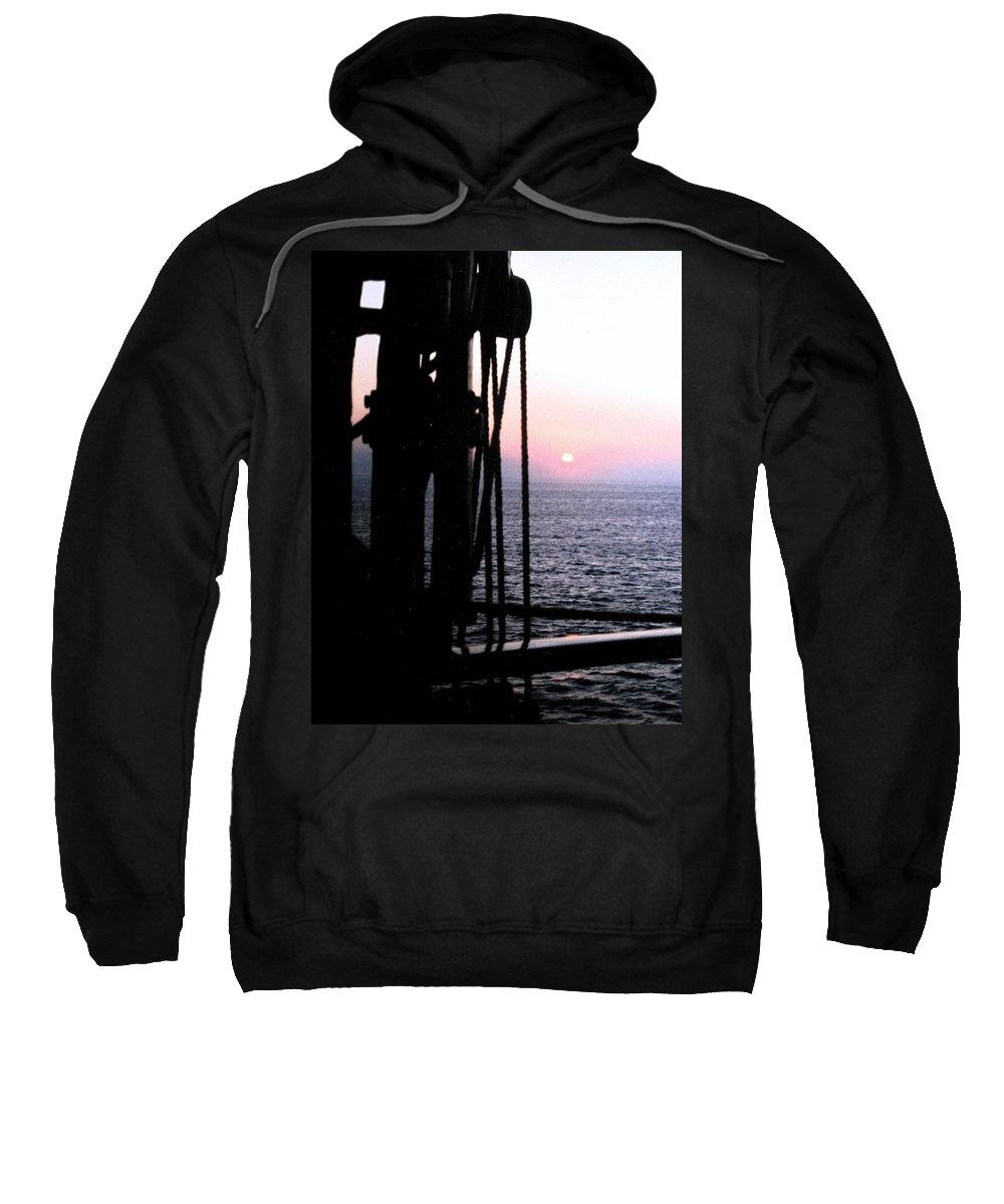 Ship Sweatshirt featuring the photograph Sinking Sun by Ian MacDonald