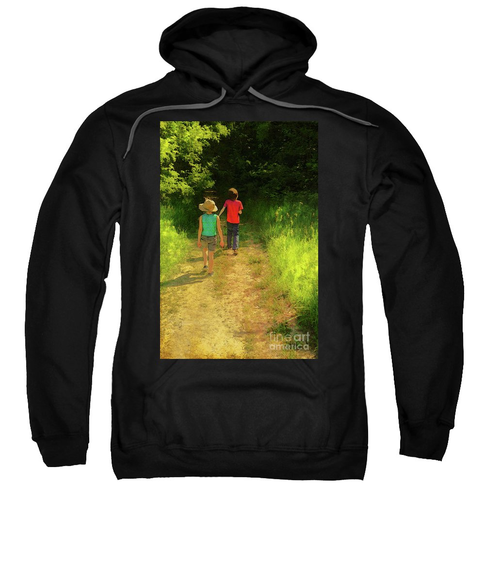 Sister And Brother Sweatshirt featuring the photograph Sister And Brother by John Anderson