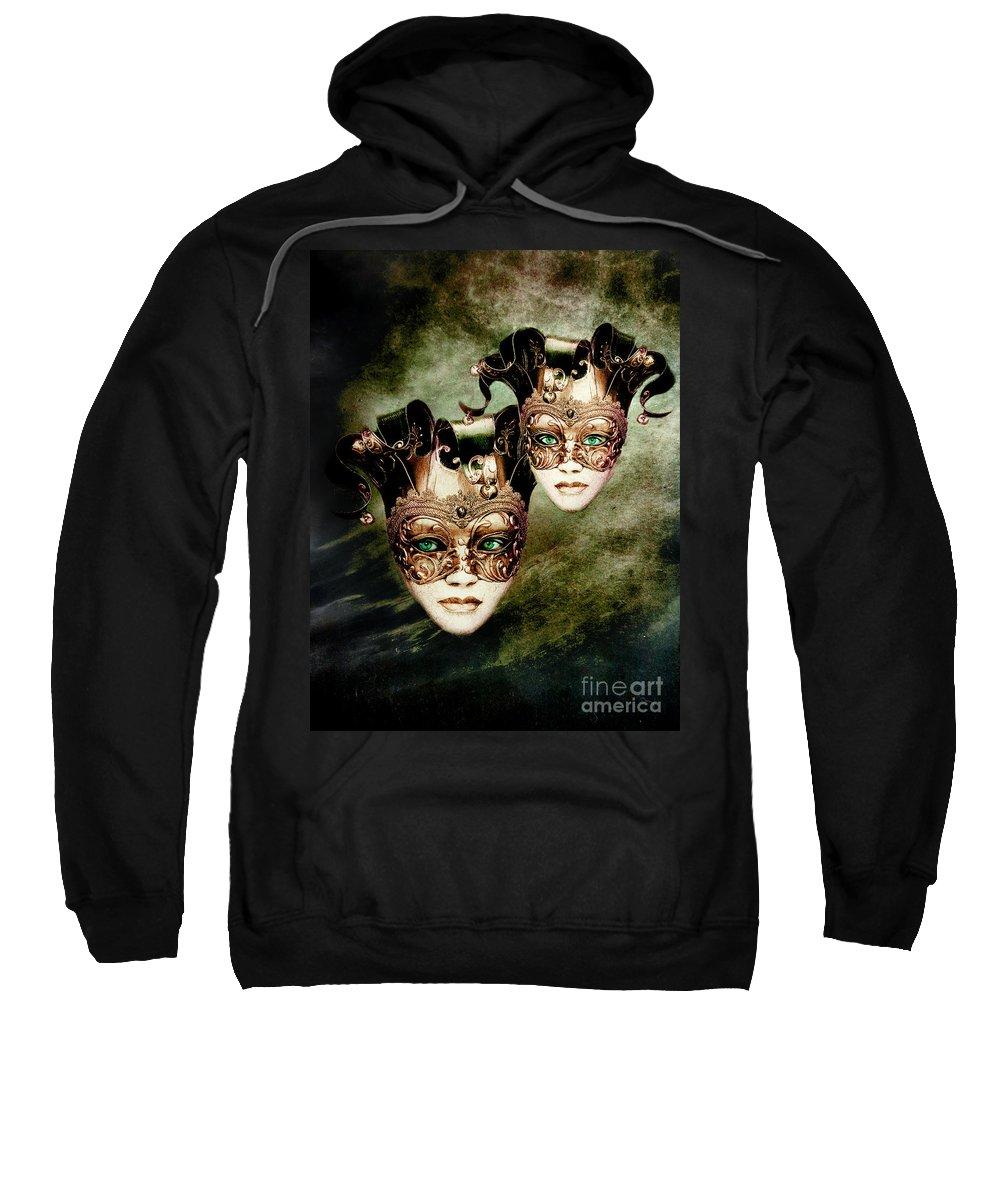 Woman Sweatshirt featuring the digital art Sisters by Jacky Gerritsen