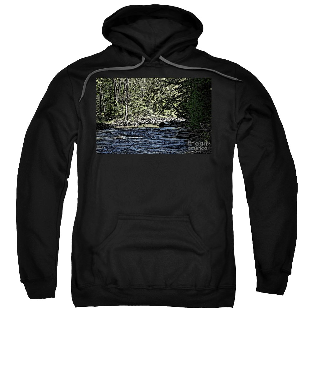 Landscape Sweatshirt featuring the photograph Six Mile Creek Ithaca Ny by David Lane
