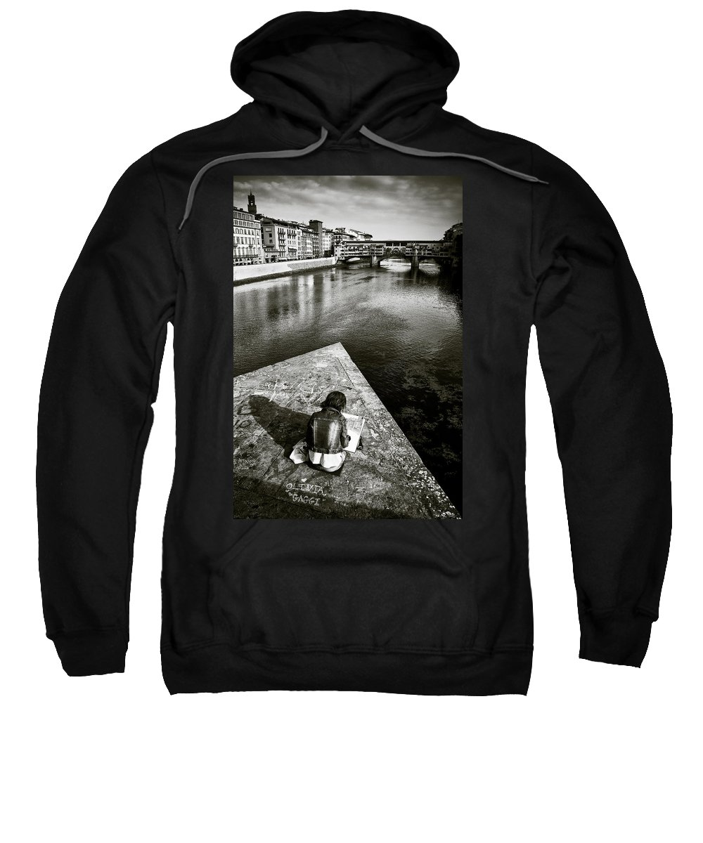 Sketching Sweatshirt featuring the photograph Sketching by Dave Bowman