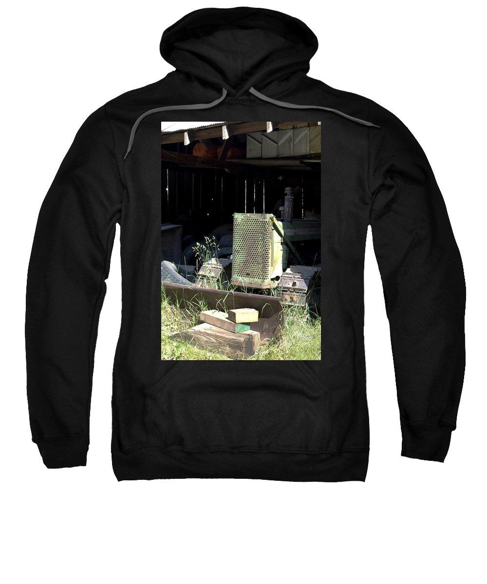 Backhoe Sweatshirt featuring the photograph Skid by Sara Stevenson