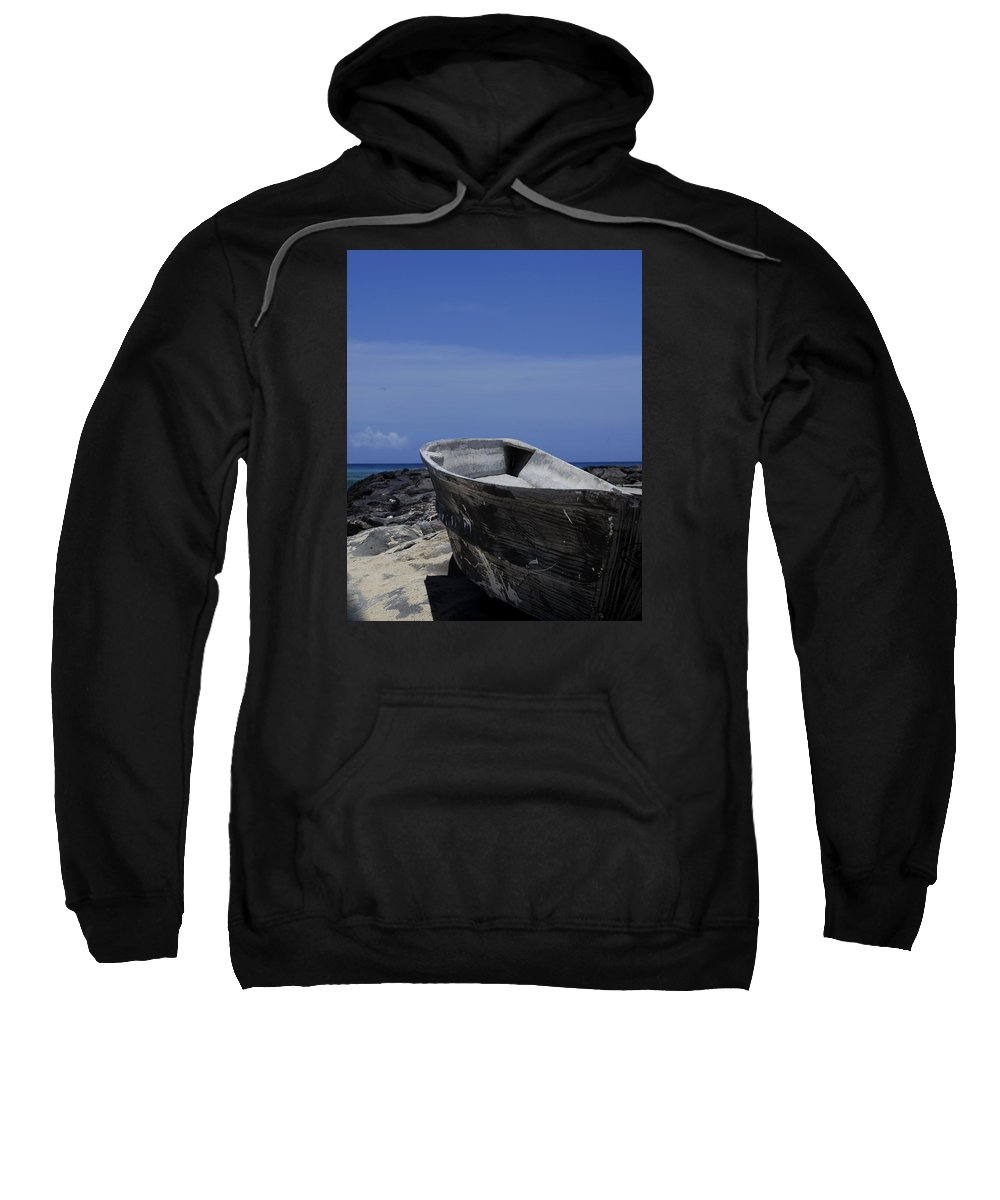 Rowboat Sweatshirt featuring the photograph Skiff by Debra Casey