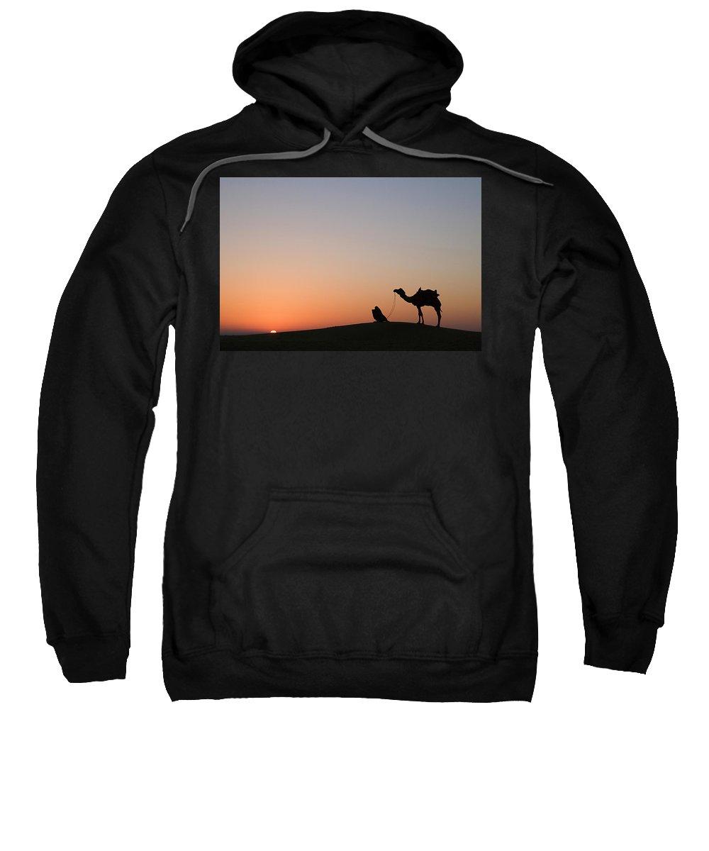 Desert Sweatshirt featuring the photograph Skn 0868 Sunrise View by Sunil Kapadia