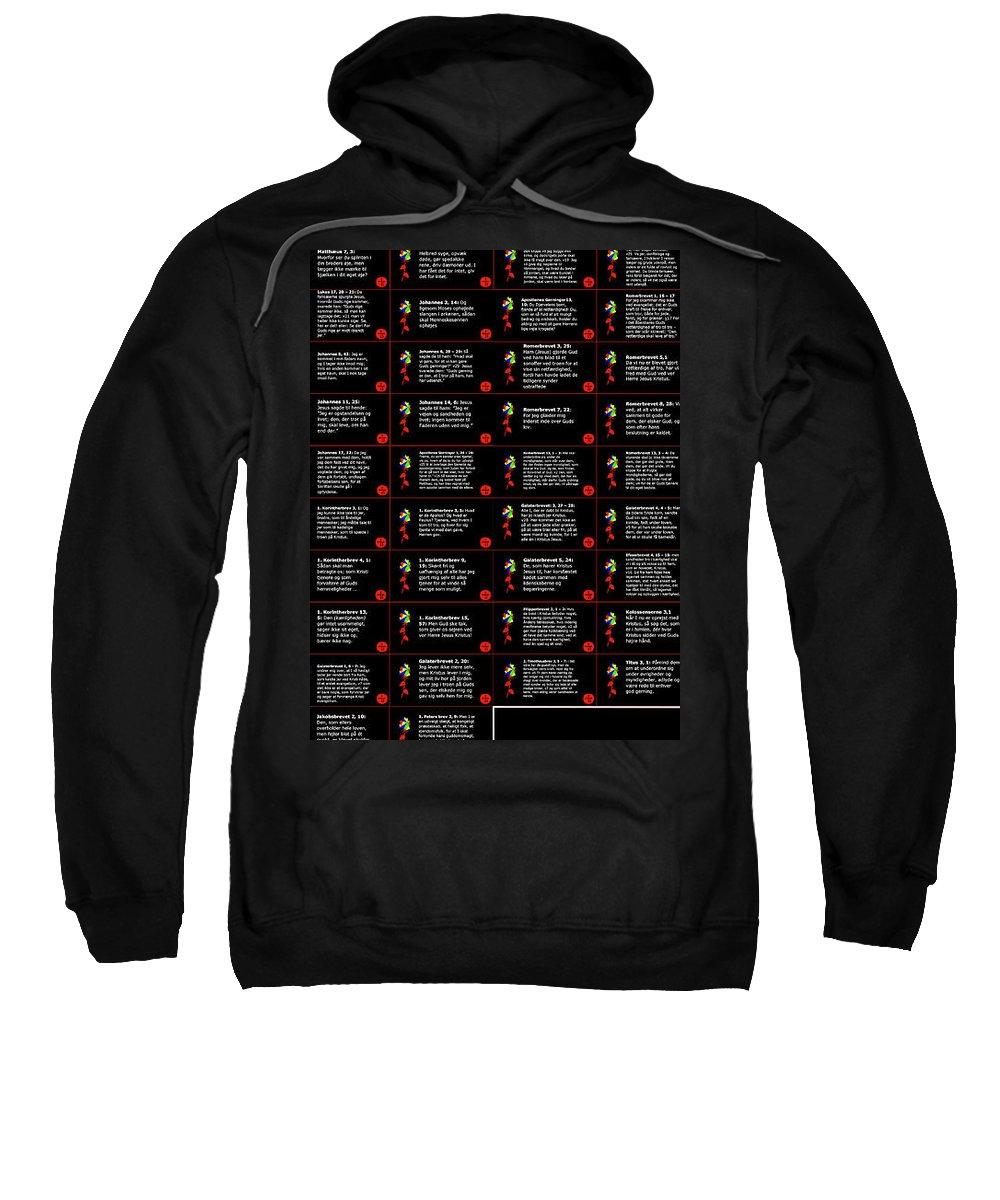 Sweatshirt featuring the mixed media Skriftsteder by Asbjorn Lonvig
