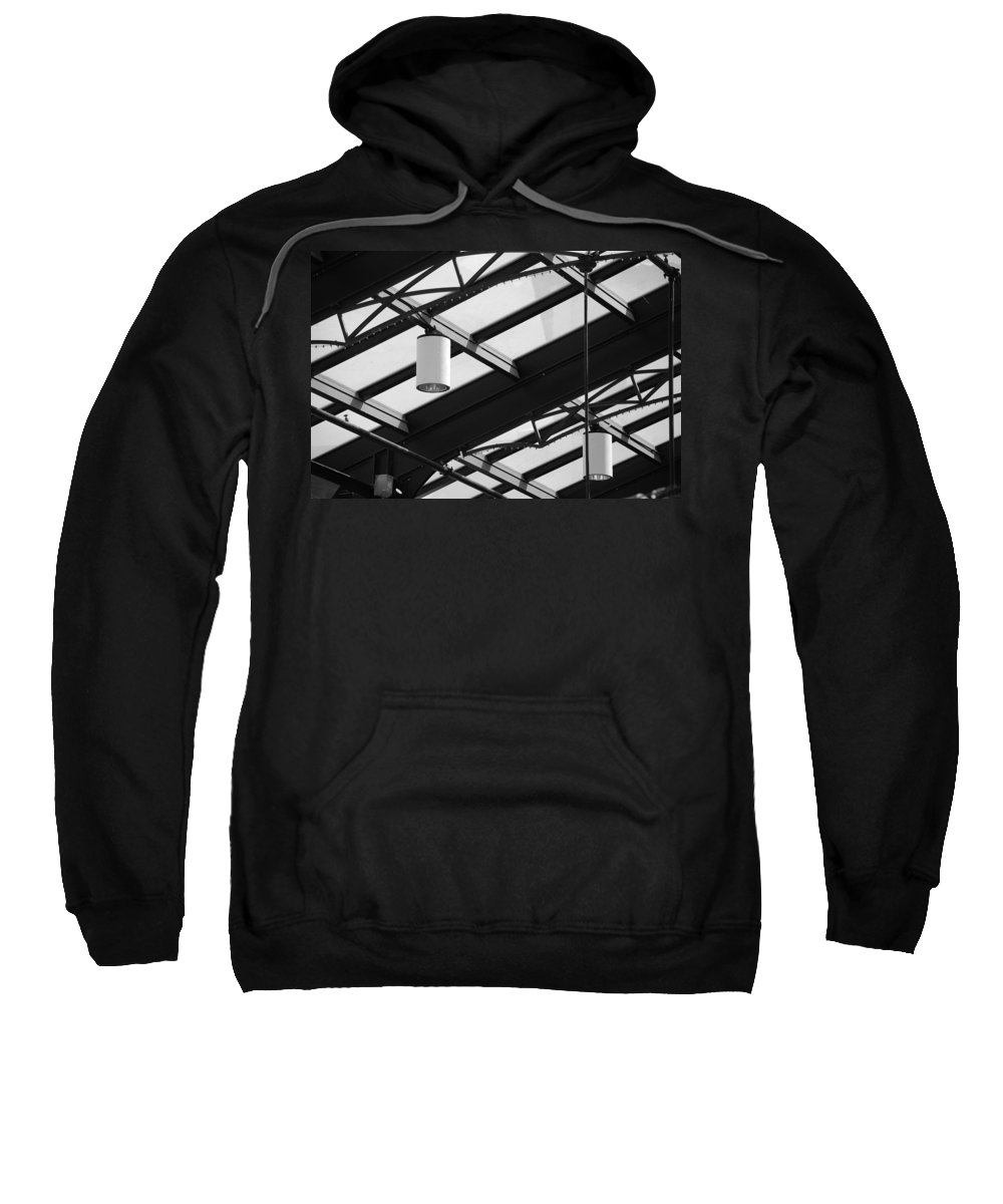 Black And White Sweatshirt featuring the photograph Sky Lights by Rob Hans