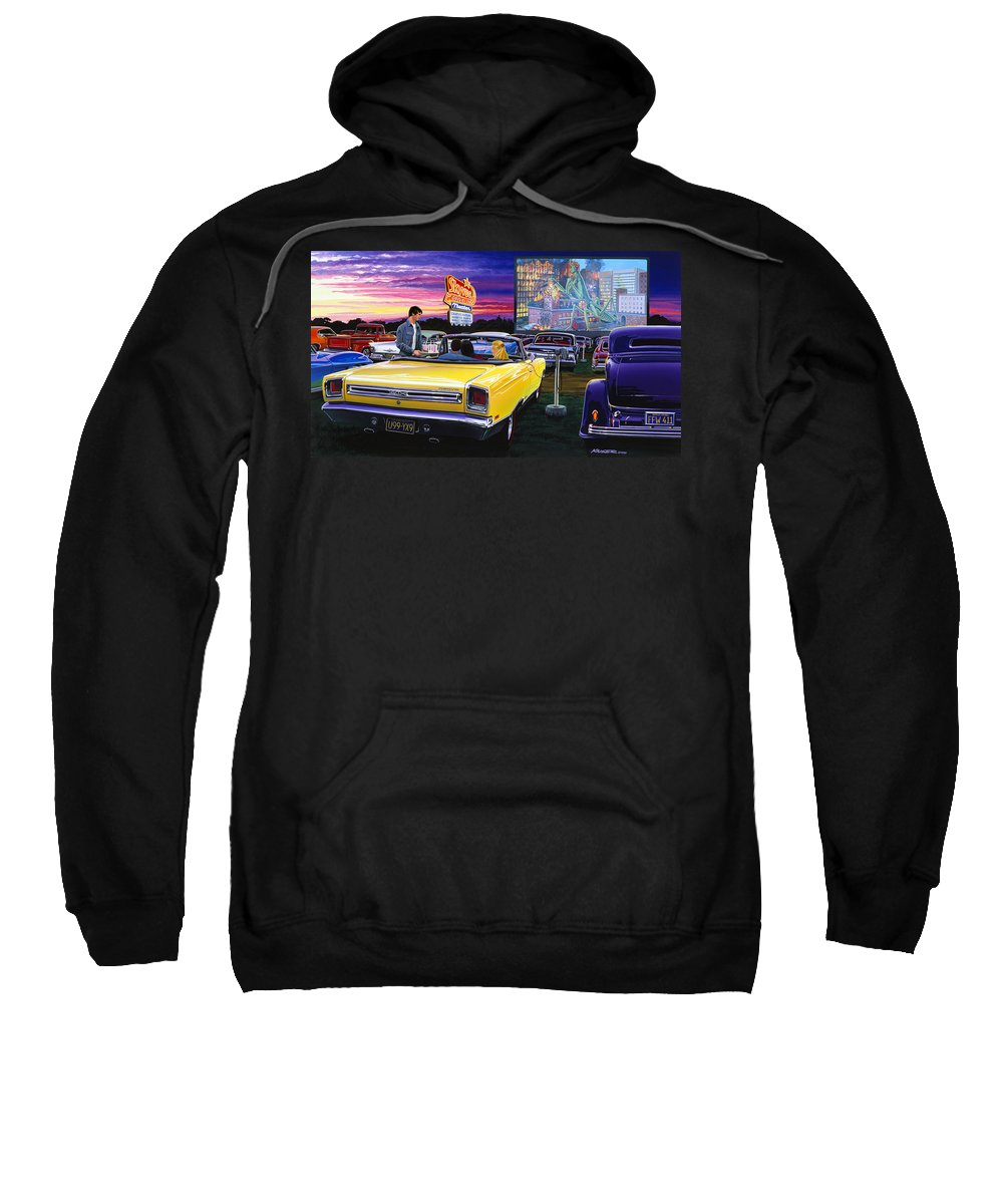 Adult Sweatshirt featuring the photograph Sky View Drive-in by Bruce Kaiser
