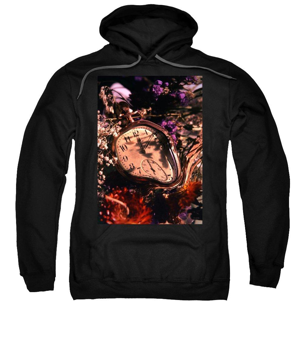 Flowers Sweatshirt featuring the photograph Slip Slidin Away... by Arthur Miller