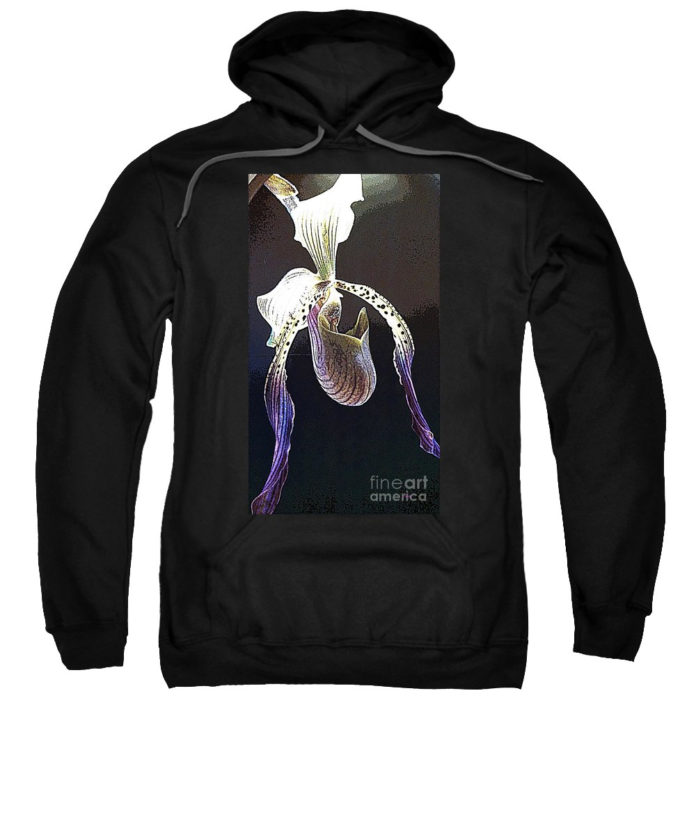Orchid Sweatshirt featuring the photograph Slipper Orchid by Cindy Manero