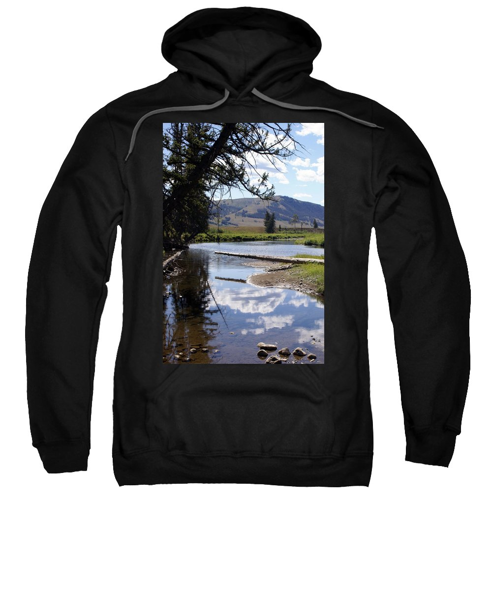 Slough Creek Sweatshirt featuring the photograph Slough Creek 1 by Marty Koch