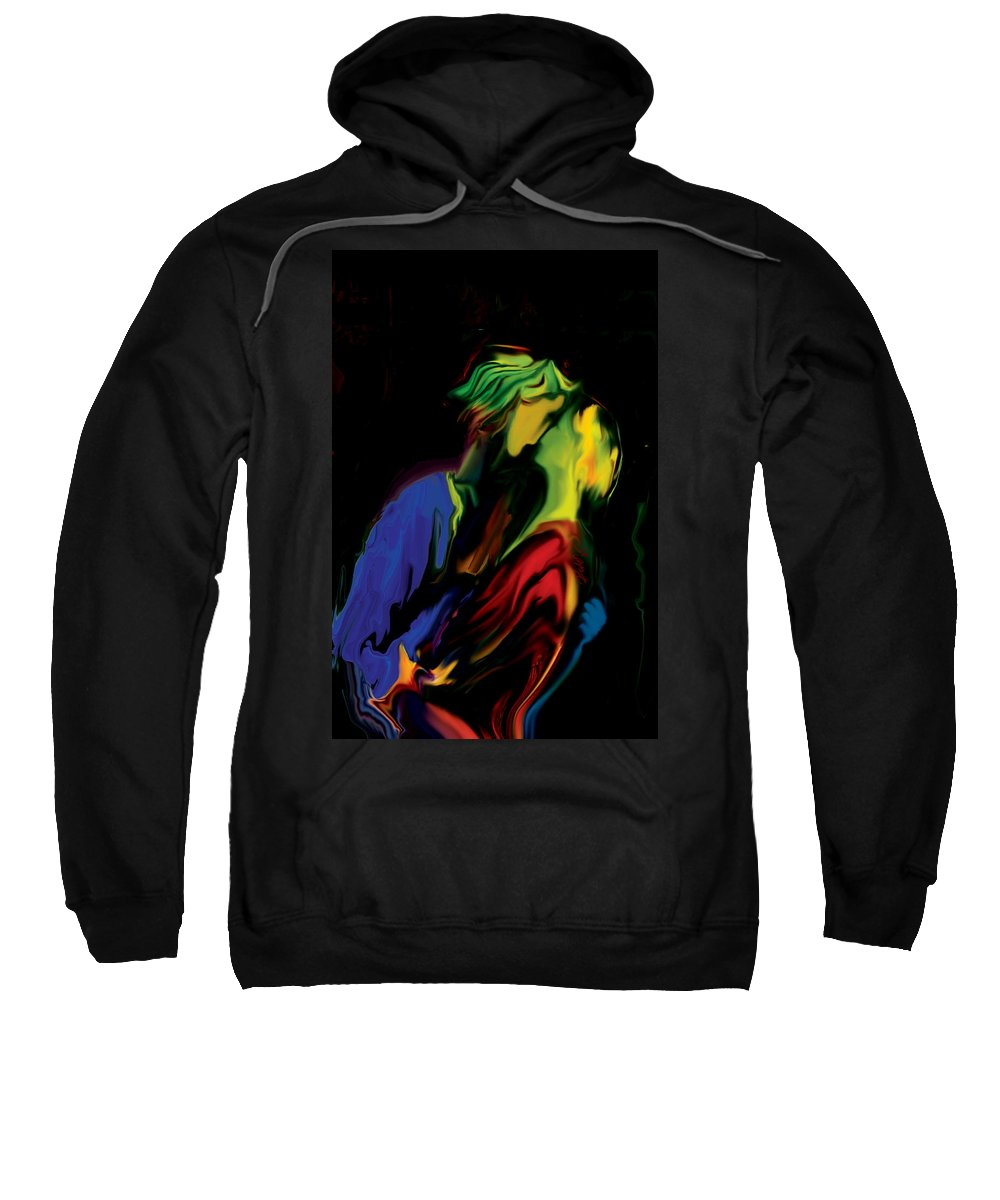 Black Sweatshirt featuring the digital art Slow Dance by Rabi Khan