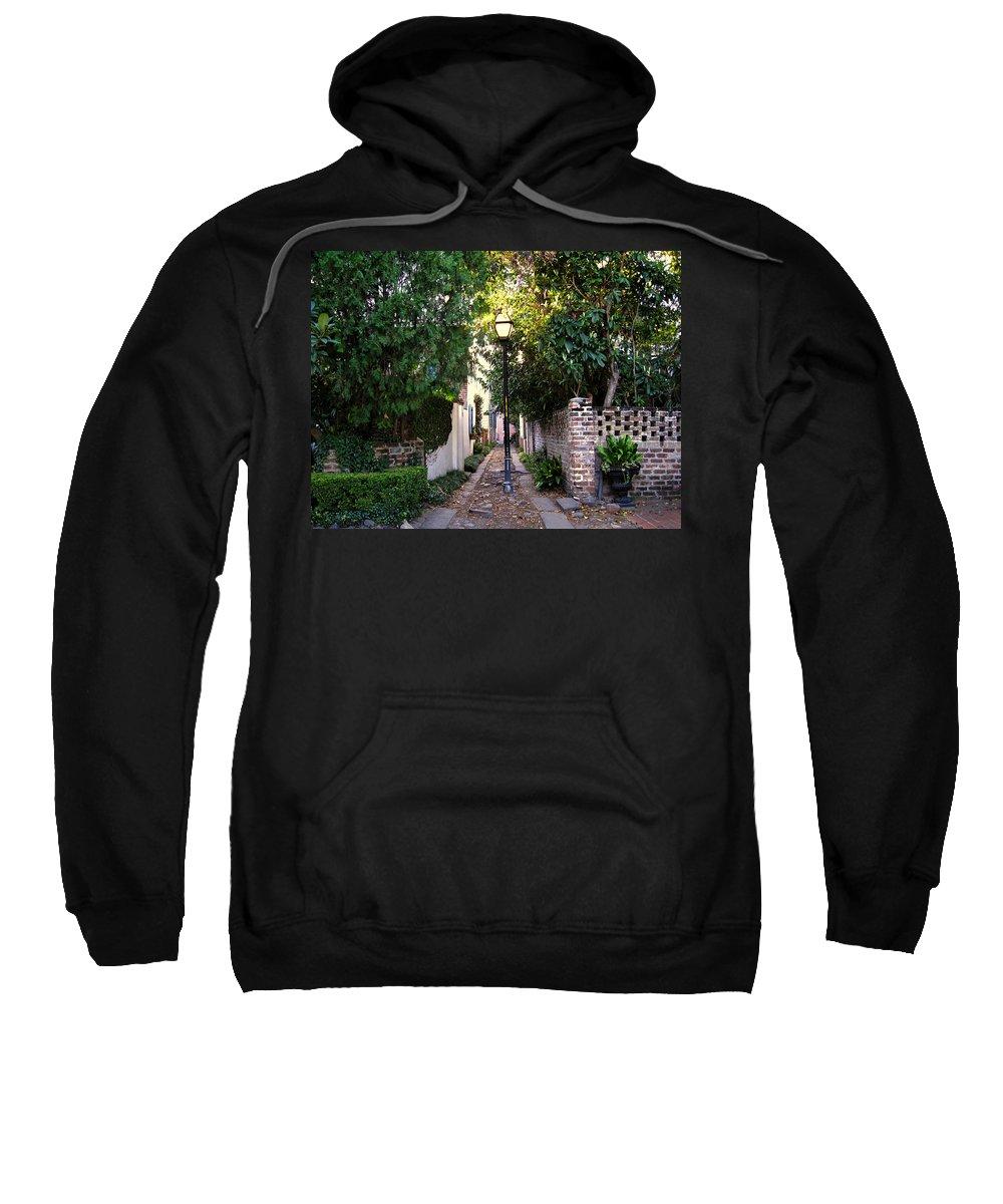 Lane Sweatshirt featuring the photograph Small Lane In Charleston by Susanne Van Hulst