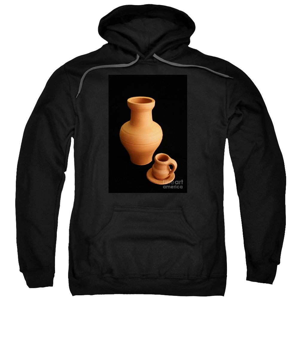 Ceramics Sweatshirt featuring the photograph Small Pottery Items by Gaspar Avila