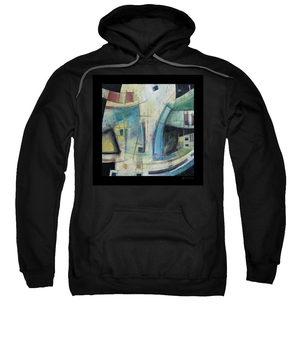 Abstract Sweatshirt featuring the painting Small Town Blues by Tim Nyberg