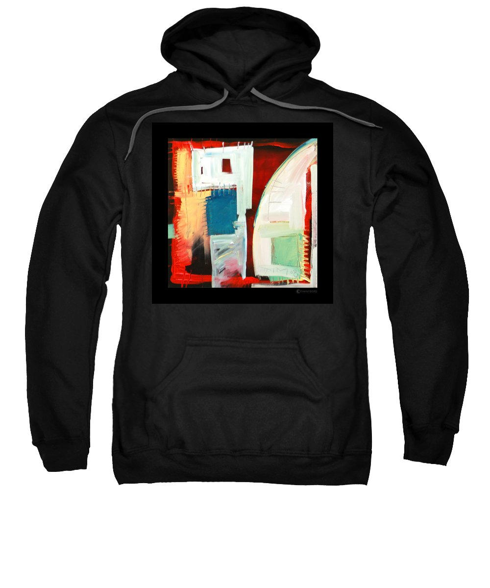 Color Sweatshirt featuring the painting Smilin by Tim Nyberg