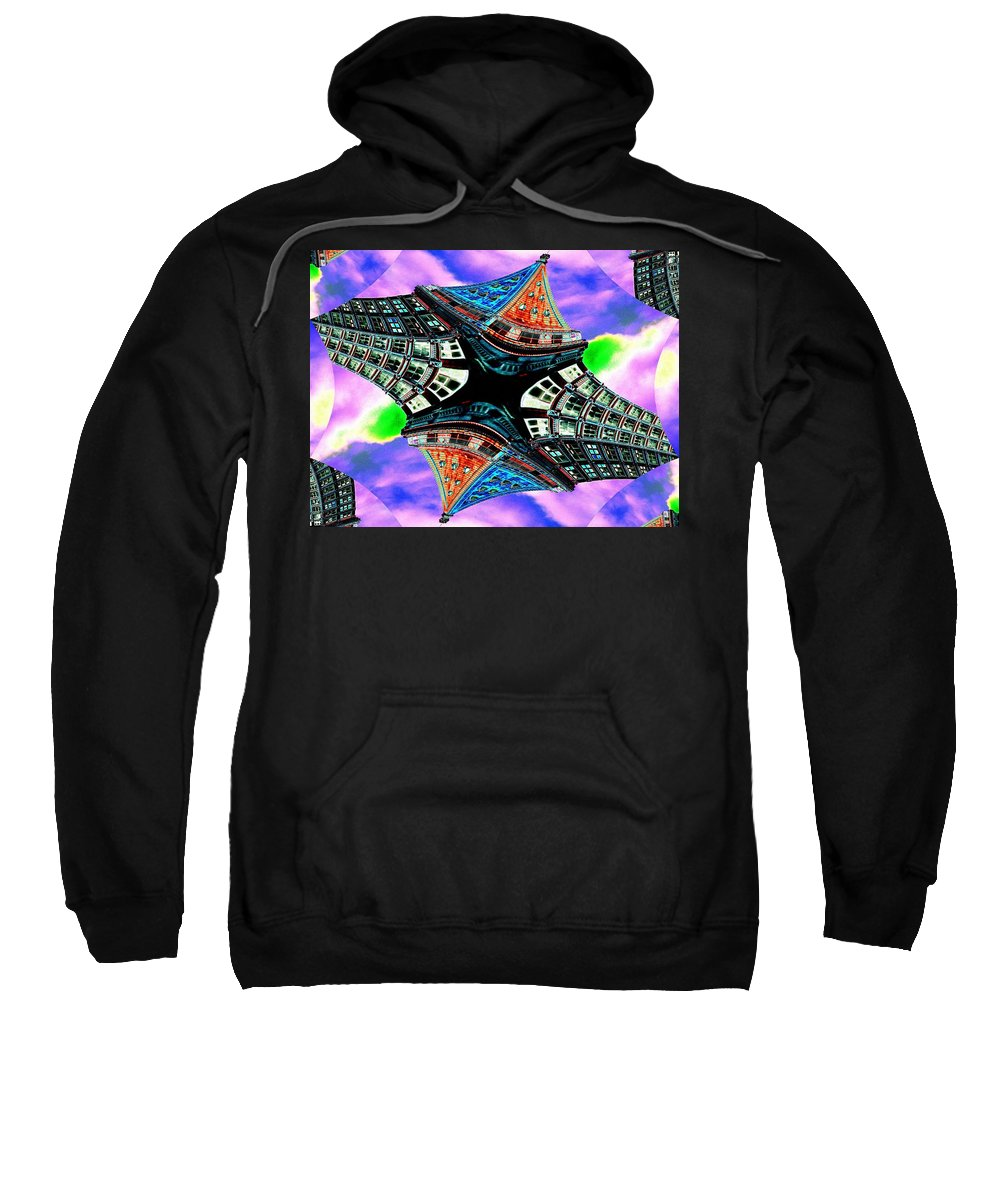 Seattle Sweatshirt featuring the digital art Smith Tower Fractal by Tim Allen