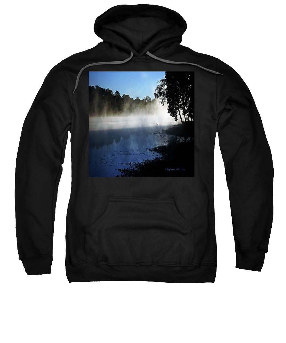 Smoke Sweatshirt featuring the digital art Smoke On The Water by DigiArt Diaries by Vicky B Fuller