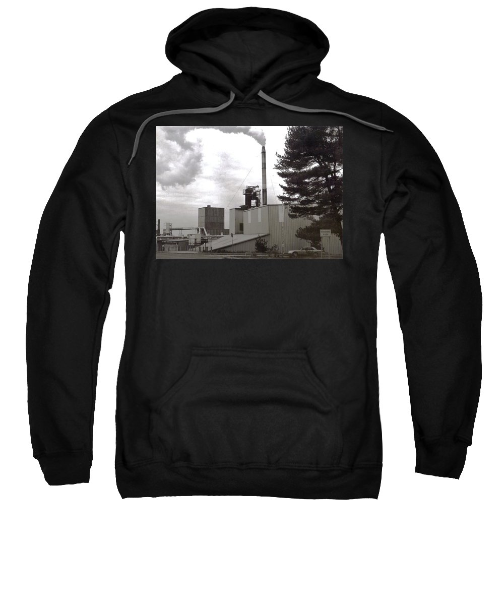 Black And White Photograph Sweatshirt featuring the photograph Smoke Stack by Thomas Valentine