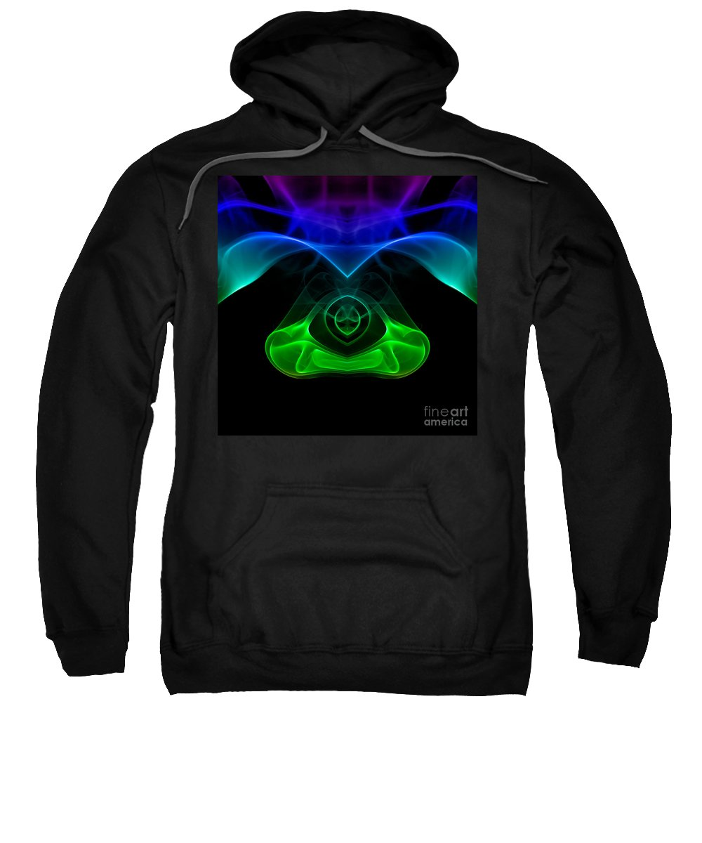 Abstract Sweatshirt featuring the photograph smoke XXXII mb1 by Joerg Lingnau