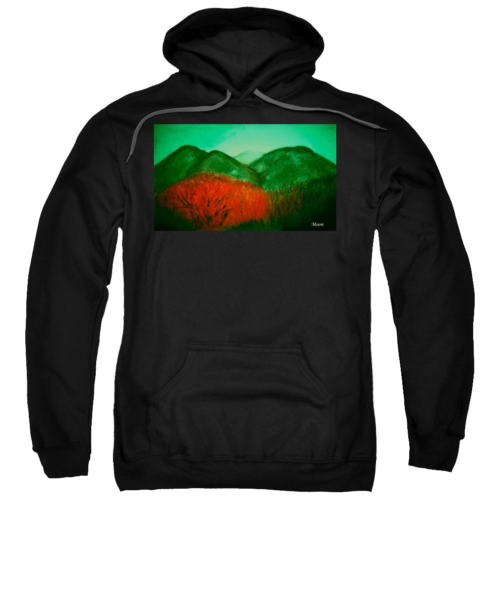 Mountains Sweatshirt featuring the pastel Smoky by Melvin Moon