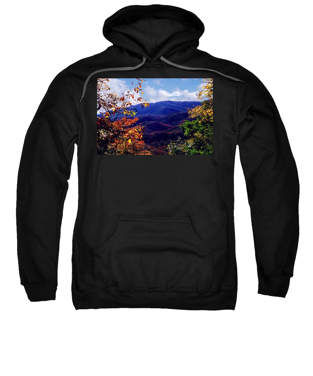 Mountain Sweatshirt featuring the photograph Smoky Mountain Autumn View by Nancy Mueller
