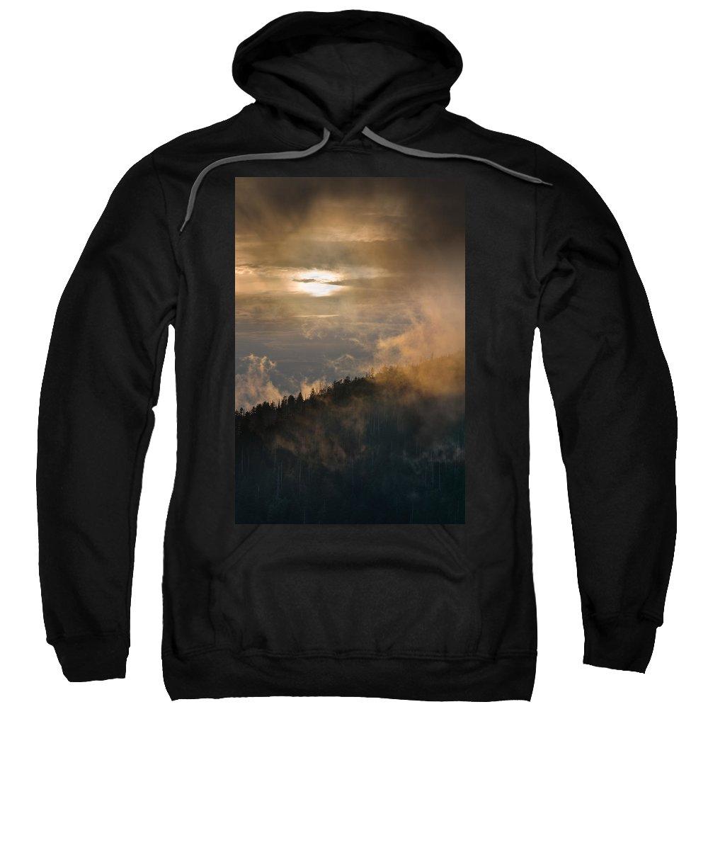 Carolina Sweatshirt featuring the photograph Smoky Mountain by Steve Gadomski