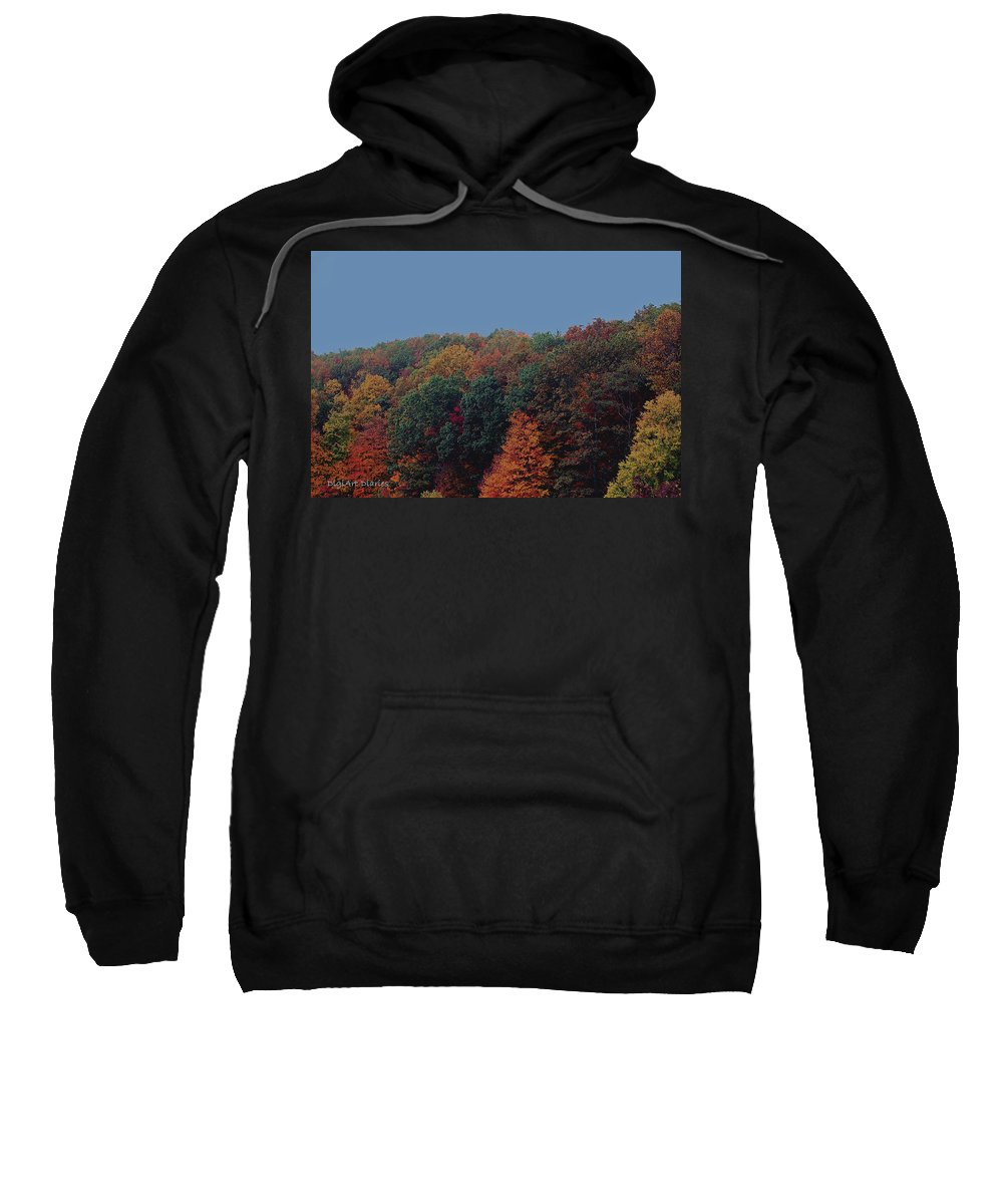 Smoky Mountains Sweatshirt featuring the digital art Smoky Mountains In Autumn by DigiArt Diaries by Vicky B Fuller