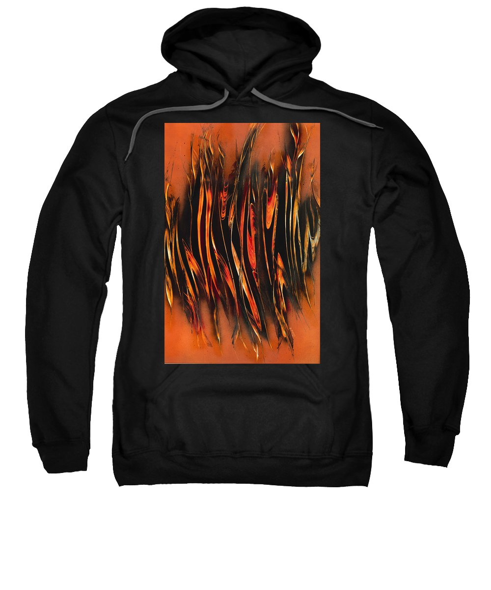 Snap Sweatshirt featuring the painting Snap-crackle And Pop by Jason Girard