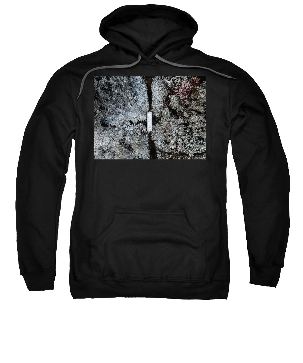 Snow Sweatshirt featuring the photograph Snow Day In Austin by Kevin Mueller