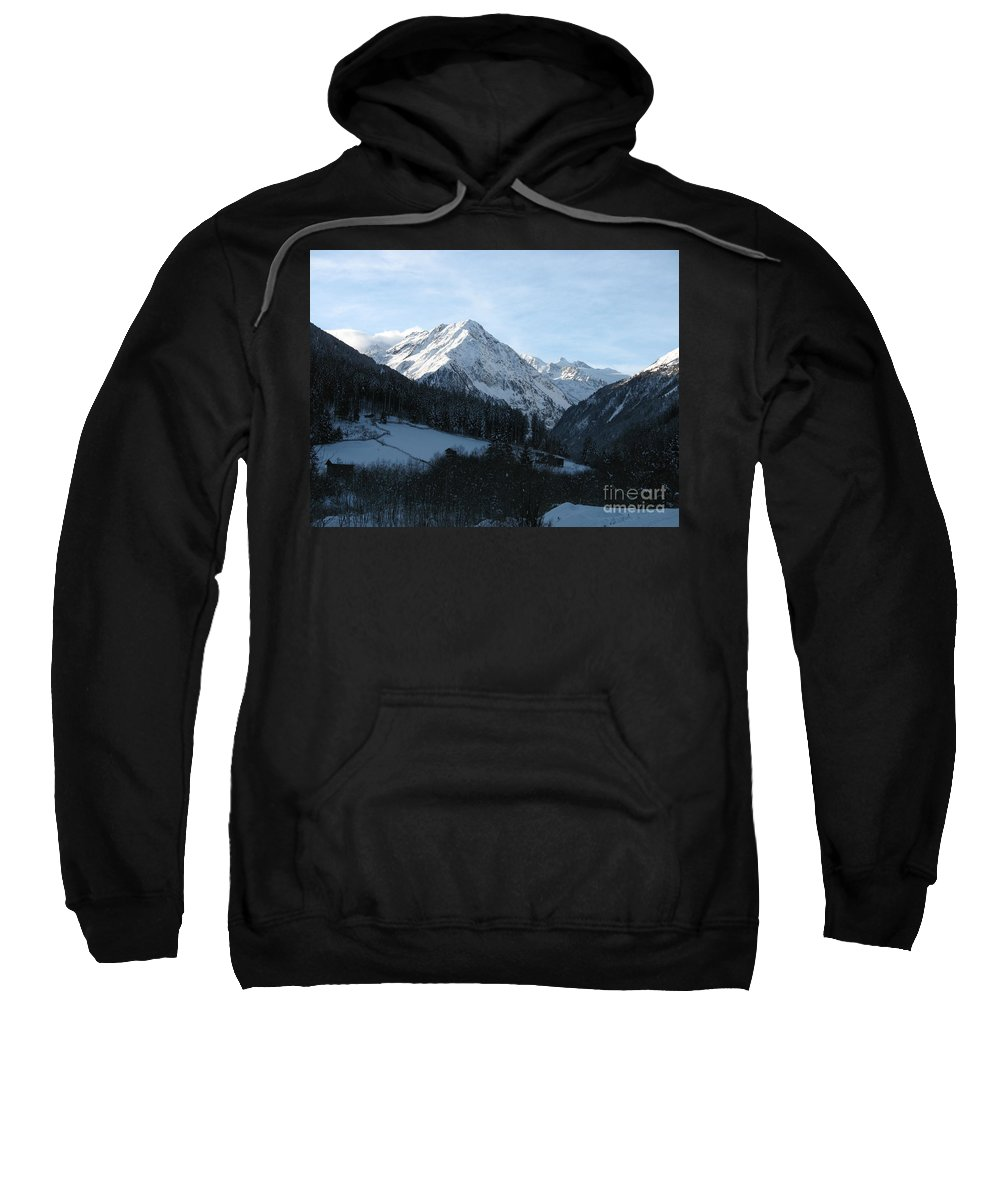 Snow Sweatshirt featuring the photograph Snow On The Mountains by Christiane Schulze Art And Photography