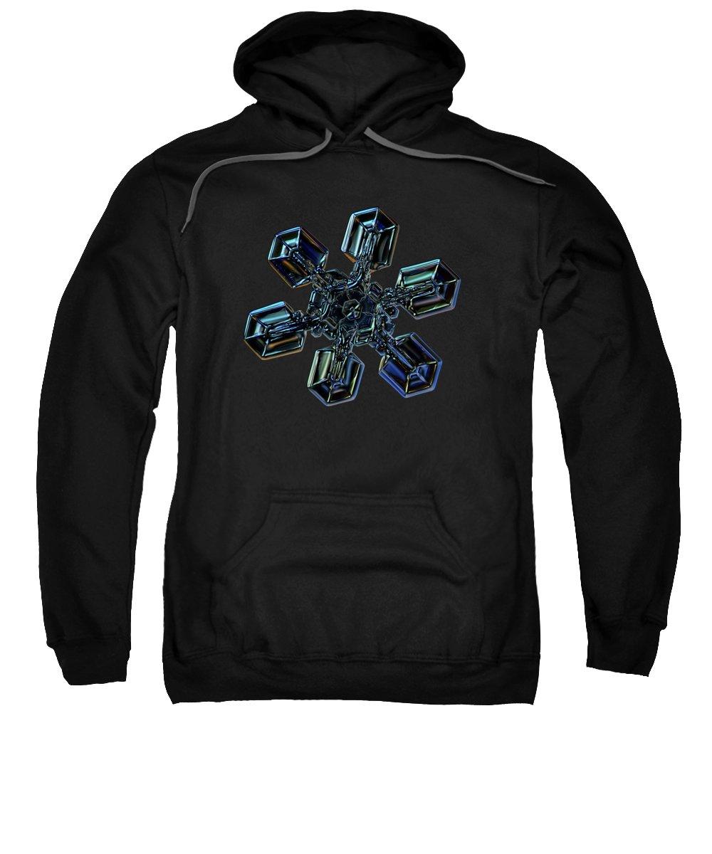 Snowflake Sweatshirt featuring the photograph Snowflake Photo - High Voltage IIi by Alexey Kljatov