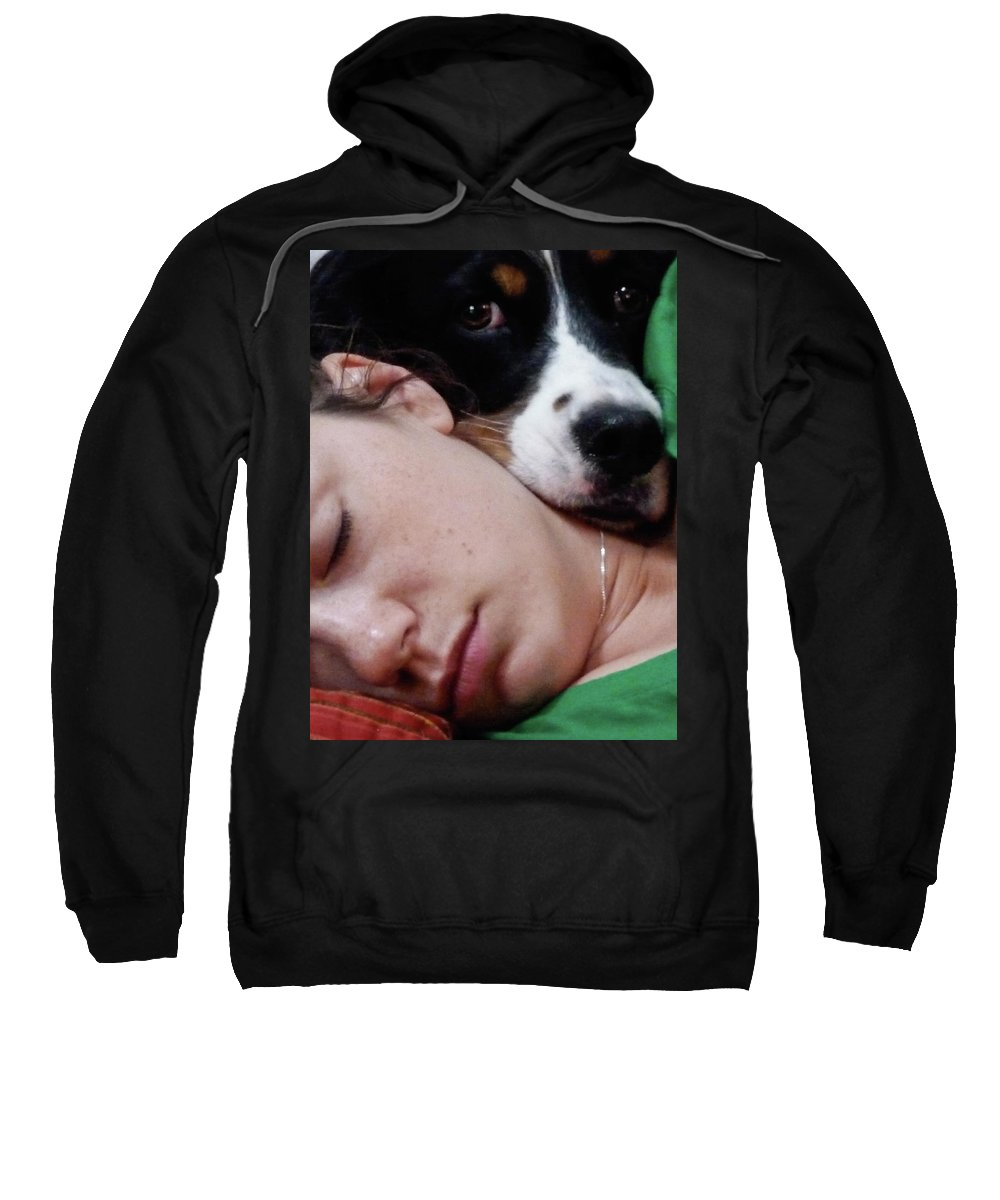 Portrait Sweatshirt featuring the photograph Snuggles by Vm Vassolo